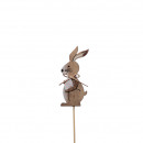 Wooden rabbit Jani to stick, H8cm, natural
